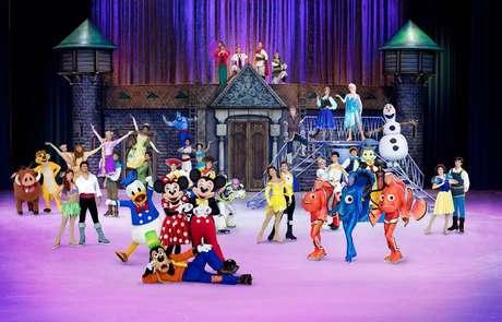 Espetáculo 'Disney On Ice - 100 anos de magia' irá reunir diversos personagens presentes nos quase cem anos de história da empresa