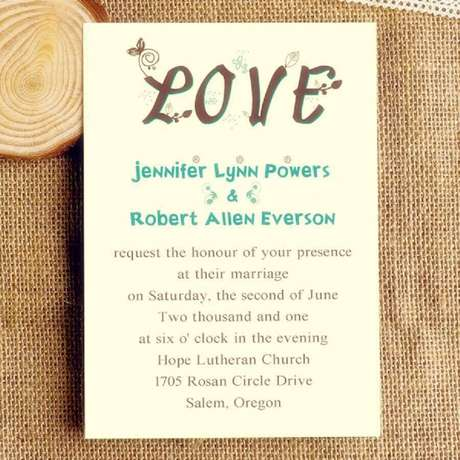19. Ideia moderna e divertida para convite de casamento simples – Foto: Invites Weddings