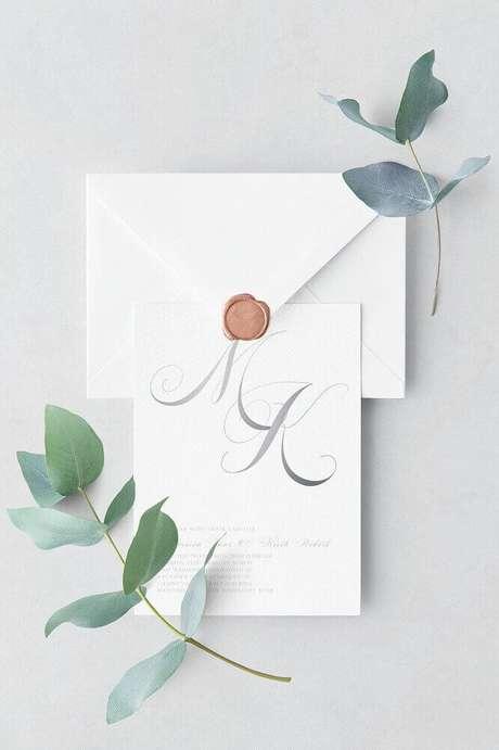 20. O convite de casamento simples e minimalista tem sido uns dos mais pedidos – Foto: Pinterest