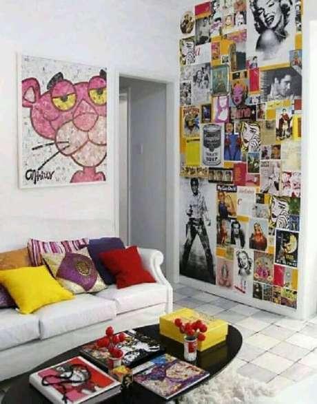 3. Para deixar sua casa com as tendências de 2020 invista na parede com colagens – Foto: Pinterest