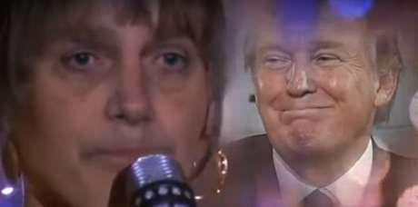 Bolsonaro assume o rosto de Whitney Houston e canta I Will Always Love You (Eu Sempre Vou Amar Você) para Donald Trump em vídeo feito por Bruno Sartori.