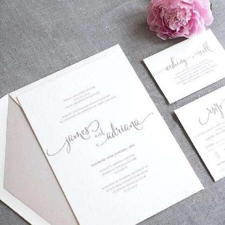 40. Os convites de casamento simples e clássicos sempre são muito bonitos – Foto Tanie Przeprowadzki.info