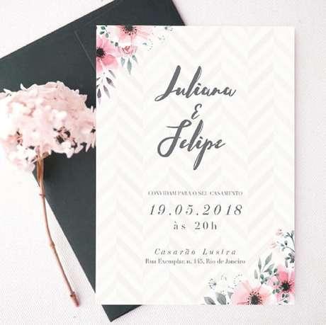81. Modelo de convite de casamento simples para encantar os convidados. Fonte: Revista Artesanato