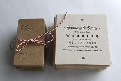 67. Modelo diferente de convite de casamento simples e barato – Foto: MyWedding