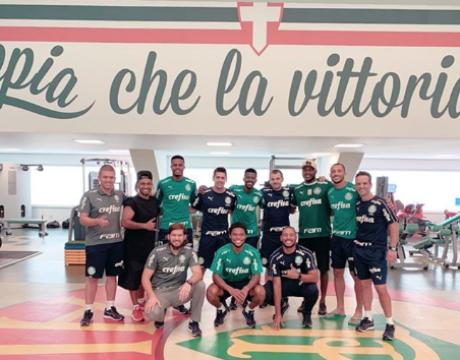 Jogadores do elenco palmeirense trabalham nas férias para se recuperar de lesão (Foto: Reprodução/Instagram)
