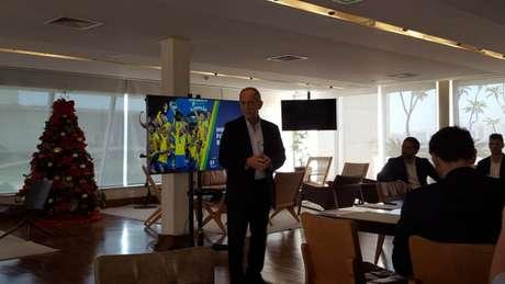 O presidente (Rogério Caboclo) diz que é possível triplicar o impacto do futebol', diz Feldman (Vinícius Faustini)