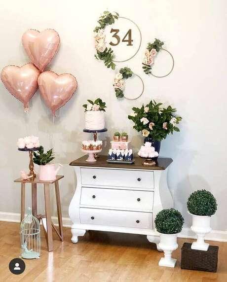 42. Decoração para festa em casa simples e linda – Via: Pinterest