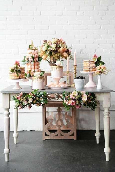 47. Festa em casa decorada para um casamento – Via: Decor Fácil