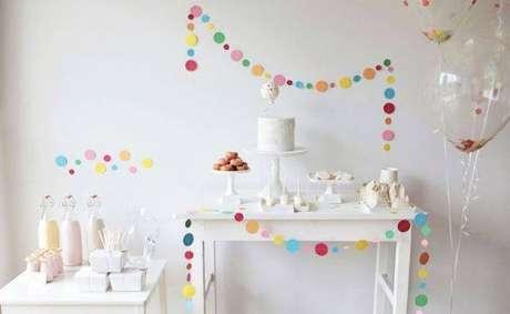 55. Festa em casa clean e linda – Via: Dicas de Mulher