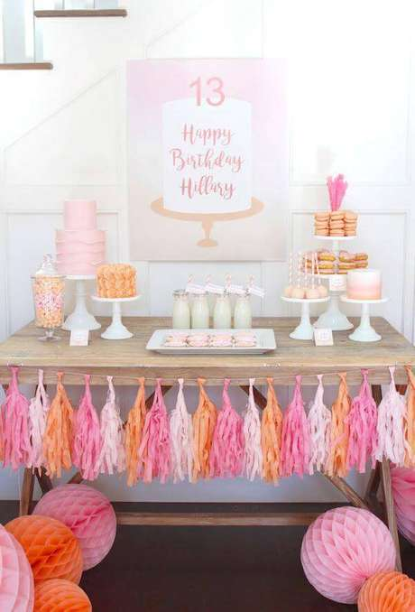 15. Festa em casa em tons de rosa e laranja – Via: Happy Birthday World