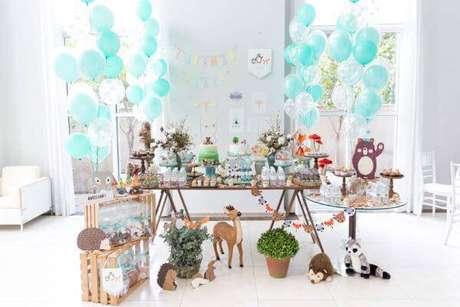 23. Festa em casa infantil com tema da floresta – Via: Inspire moms