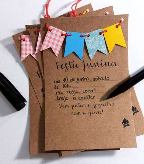 27. Convite para festa junina em casa – Via: Tua Casa