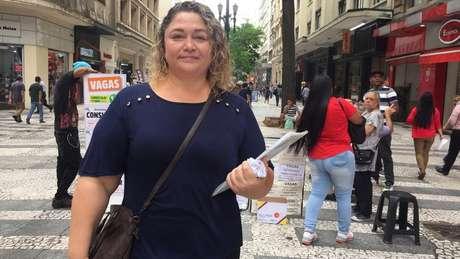 Nívea Amanajás, 44, está desempregada há nove meses, desde que chegou em São Paulo