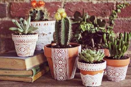 10. Decore a casa com diferentes tipos de cactos. Fonte: Pinterest