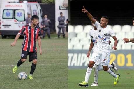 Foto: Montagem Rafael Chaves/Serra F.C e Pedro Ernesto Guerra Azevedo/Santos FC
