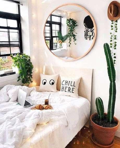 35. Decore o quarto com diferentes tipos de cactos. Fonte: Original Home