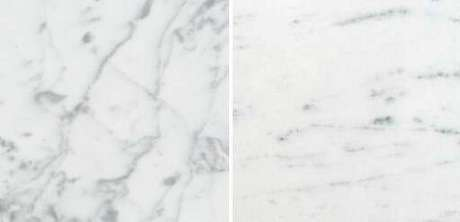 7. Mármore carrara e mármore carrarinha – Via: Casa e Construção