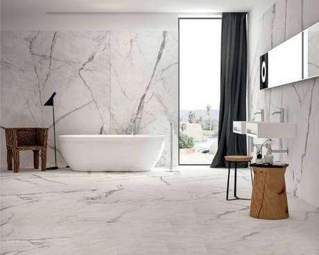22. Mármore carrara para banheiro – Via: Original Home