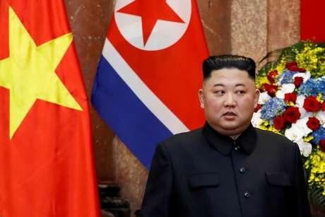 Líder norte-coreano, Kim Jong-un  01/03/2019 Minh Hoang/Pool via Reuters