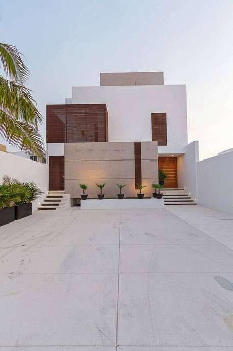 10. Invista em texturas diferentes para fachadas de casas lindas e modernas – Foto: Sua Obra