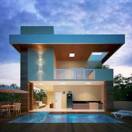12. As casas mais lindas do mundo sempre contam com uma bela piscina – Foto: Revista Ambientes