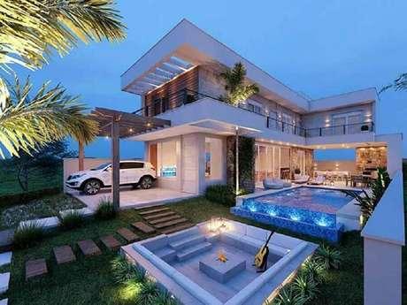 15. Casas lindas com piscina e varanda ampla ficam ainda mais valorizadas – Foto: Zozu