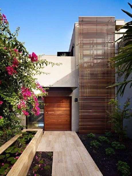20. O detalhe em madeira fez grande diferença na fachada de casas lindas e modernas – Foto: Weibo