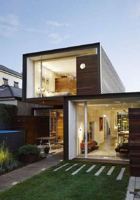 25. Contêiner são ótimos para fazer casas lindas e modernas – Foto: ArchDaily