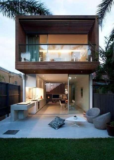 26. Modelo de casas lindas e modernas 2 andares – Foto: HomeDSGN