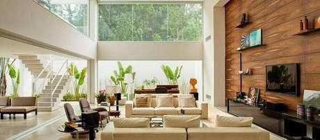 32. Invista em móveis e revestimentos de qualidades para decorar a sua casa linda – Foto: Pinterest