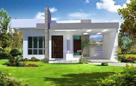 33. Casas pequenas e lindas com jardim grande – Foto: Pinterest