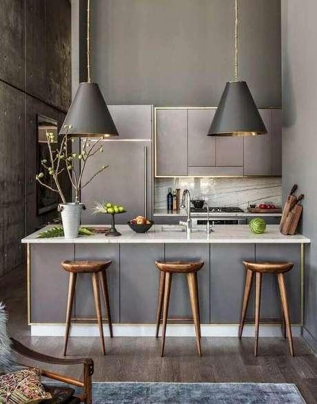 37. Decoração moderna em tons de cinza para casa moderna – Foto: Futurist Architecture