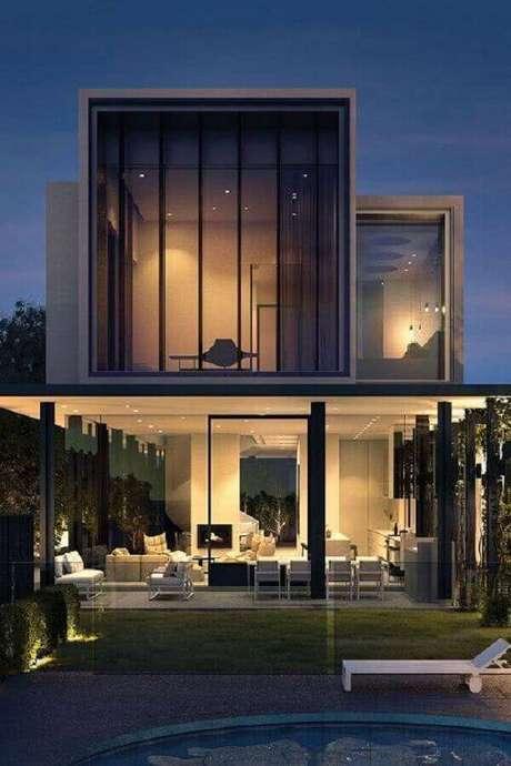 50. Modelos de casas lindas e modernas toda de vidro – Foto: Decor Steps