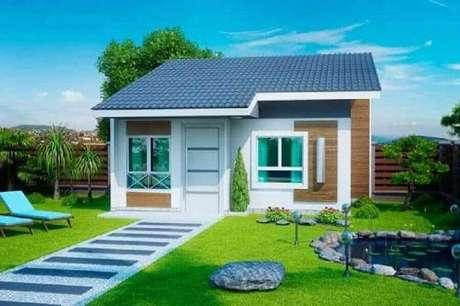 54. Modelos de casas lindas e simples com jardim – Foto: Webcomunica
