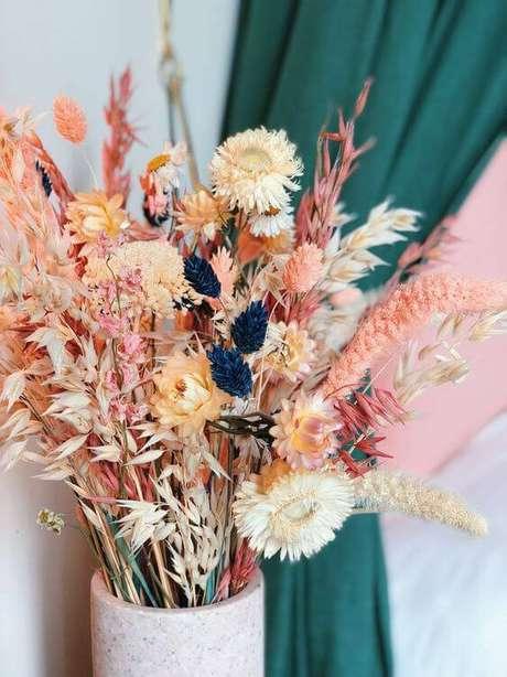 1. As flores secas se tornaram uma tendência decorativa. Foto: Coconde Decoration