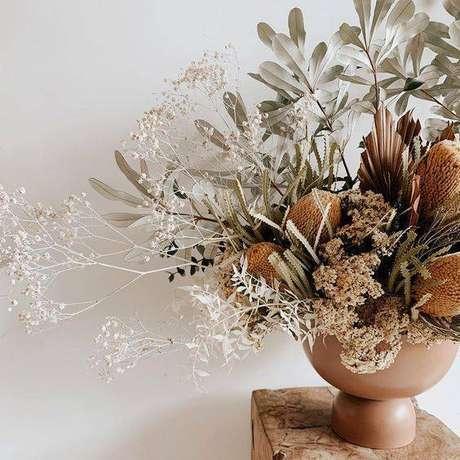 28. As flores secas ficam lindas em vasos. Foto: Instagram