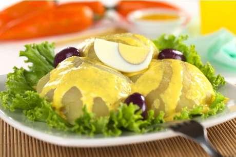 Papa a la Huancaína: típica salada peruana