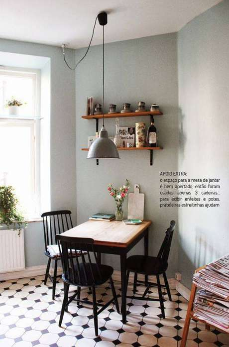 36. O contraste de cor é lindo em pisos antigos. Foto: Casa de Valentina