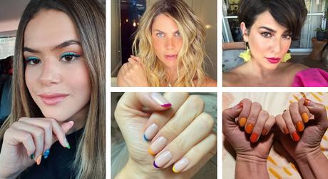 Unhas coloridas das famosas (Fotos: Instagram/Reprodução)
