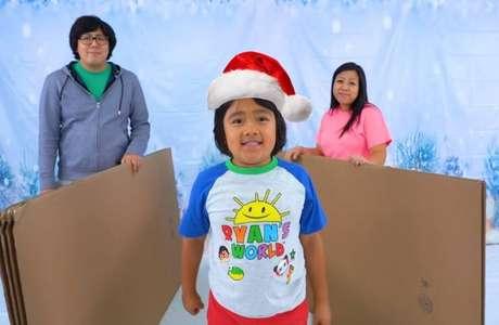 Youtuber Ryan Kanji possui canal em que testa brinquedos e produz conteúdos educativos