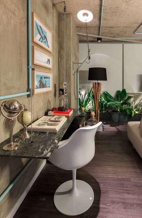 15. Bancada do quarto com acabamento de granito verde ubatuba. Fonte: Pinterst