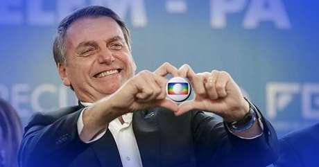 O presidente recuou a artilharia pesada contra a imprensa e a Globo