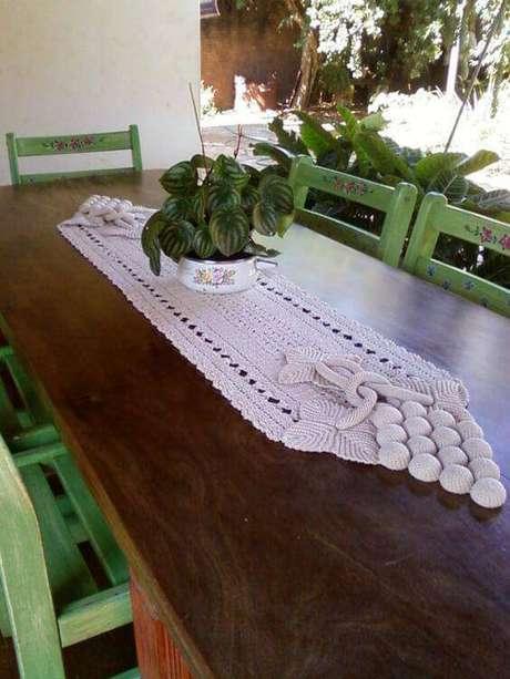 13. Centro de mesa de crochê para varanda – Via: Atelier das Hortênsias
