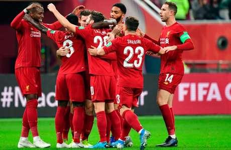 Liverpool passou pelo Monterrey na semifinal do Mundial de Clubes em Doha (Foto: GIUSEPPE CACACE / AFP)