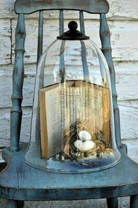 34. A redoma pode ter até mesmo livros. Foto: Pinterest