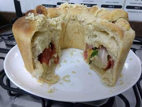 Pão casatiello de Páscoa