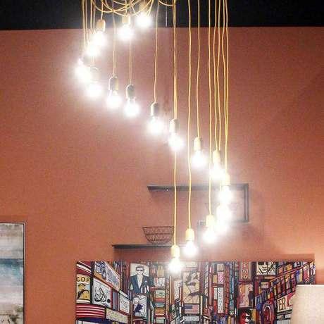 41. Cordas são comuns em lustres modernos. Foto: Enjoy MID