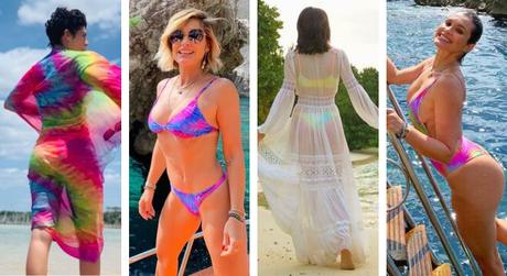 Tie-dye na moda praia (Fotos: Reprodução/Instagram)