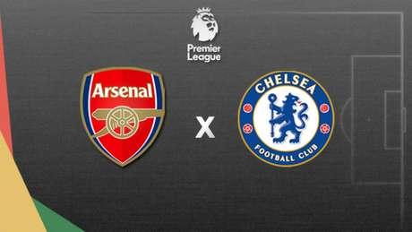 Arsenal e Chelsea se enfrentam neste domingo (Foto: Arte/Lance!)
