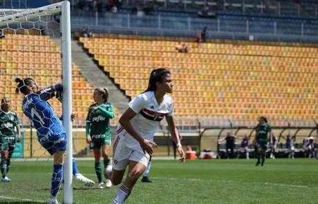 Jaqueline marcou nove gols pelo São Paulo durante a temporada 2019 (Foto: Afonso Pastore/saopaulofc.net)